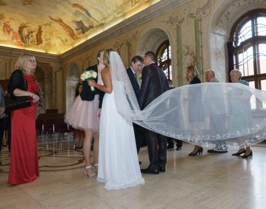Svatební fotografie Premonstrátský klášter Brno