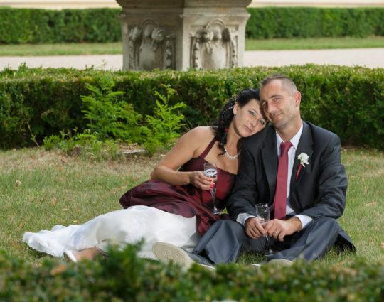 Svatba Slavkov - zahrada
