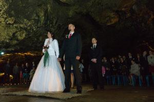 Svatební obřad - jeskyně Výpustek